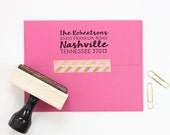 Return Address Stamp Personalized Wedding Invitation Stamp Custom Rubber Stamp Calligraphy Address Label Wedding Gift Save the Date Stamp