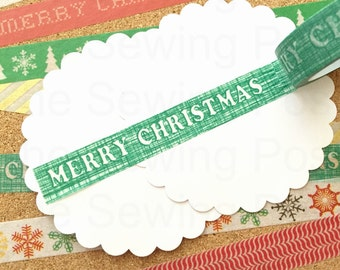 Holiday Washi Tape: Green Merry Christmas