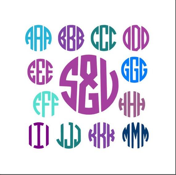 circle monogram svg font font files silhouette cricut fonts