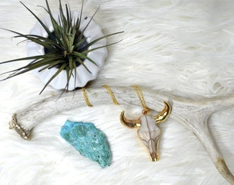 The BS Necklace|Heart Majesitc|Bull Skull Necklace|Skull jewelry|Skull Necklace|Bull Skull|Taurus Necklace|Taurus gifts