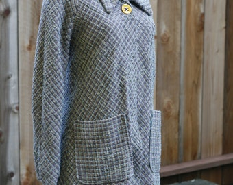 Multi-Colored Wool Jacket/Coat - Women's XS/S
