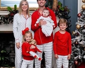 Monogrammed Christmas pajamas, monogrammed pjs, monogrammed Christmas pjs, monogrammed pajamas, monogrammed kids pajamas, Christmas pajamas