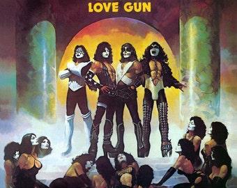 Kiss - Love Gun LP - 1977 - Casablanca Records NBLP 7057 - Vintage Vinyl LP Record Album
