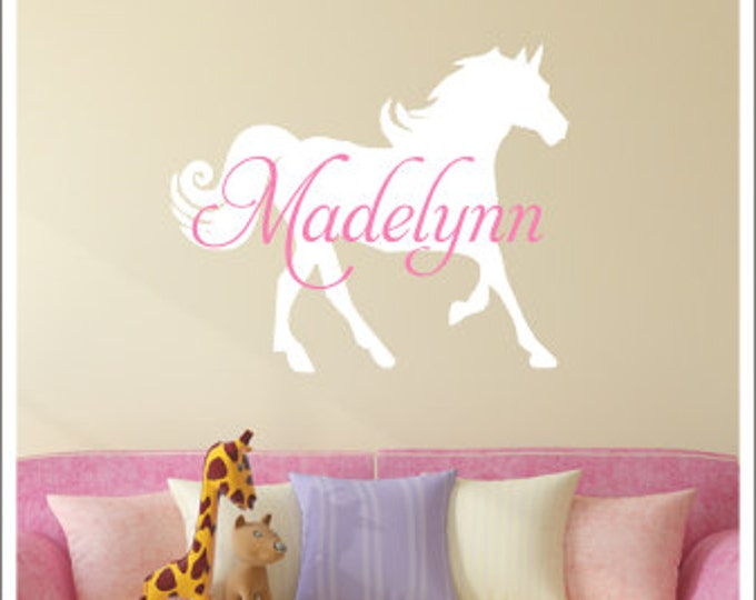 Girl Wall Decals CustomVinylbyBridge - Wall decals horses