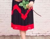 Pleated skirt,Black accordion skirt,black midi skirt,pleated skirt maxi,accordion pleated skirt,pleated skirt small,1960s skirt small,