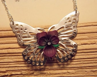 Filigree Butterfly Necklace