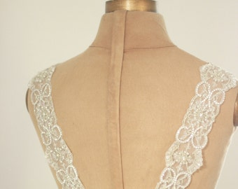 Bridal Crystal Dress Straps, wedding statement straps, wedding gown straps, wedding dress straps, rhinestone pearl  straps, abigail grace
