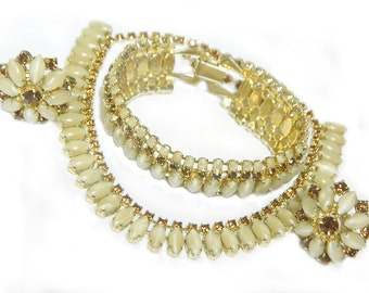 Rootbeer Cream Soda Vintage Parure Mid Century Necklace Bracelet Earrings Possible Juliana Or Weiss SALE Coupon Sparkle2017 For 15% Discount