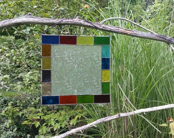 Stained Glass Colorful Panel E109