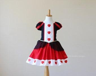 Queen of Hearts Dress - Queen of Hearts - Alice in Wonderland - Queen of Hearts Costume - White Rabbit - Alice in Wonderland Costume