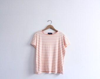 Orange Striped 90s Basic Tee