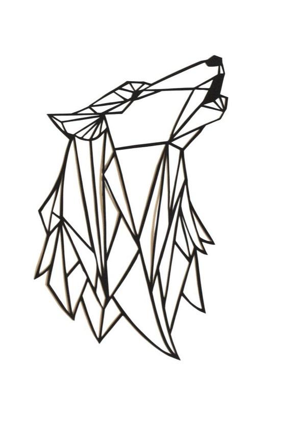Logo loup hurlant rm59 jornalagora - Dessin geometrique a faire ...
