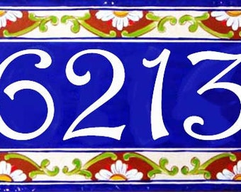 Cobalt blue house numbers plaque, Ceramic house numbers, Outdoor signs, House numbers, Porcelain address sign, Italian signs, Housewarming