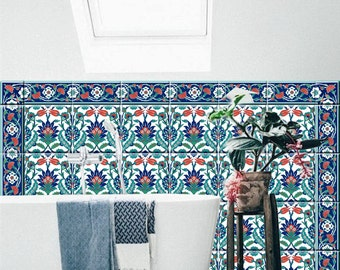Perfect Istanbul Kitchen/ Bathroom Tile/wall Decals  Single Design Pattern With  Border : 44