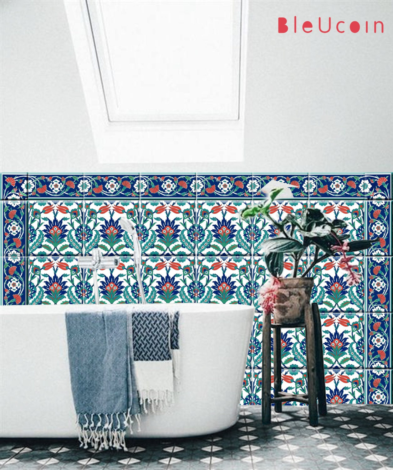 Istanbul Kitchen Bathroom Tile Wall Decals Single Design