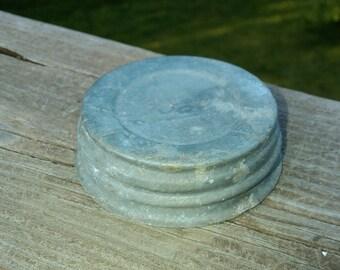 Zinc Lids, FIVE Vintage Zinc Canning Jar Lids, Canning Lids, Zinc Jar Lids, Antique Lids, Glass insert, Mason Jar Zinc Lids, Ball Jar Lid