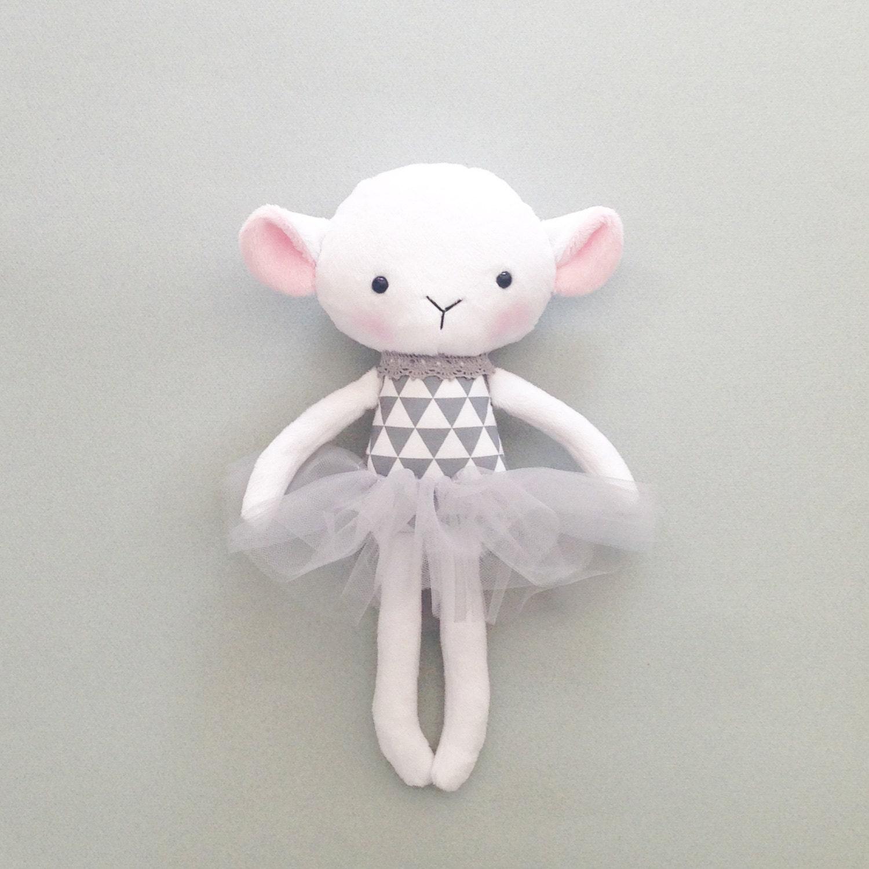 Lamb Rag Doll Stuffed Lamb Handmade Lamb Doll By CreepyandCute