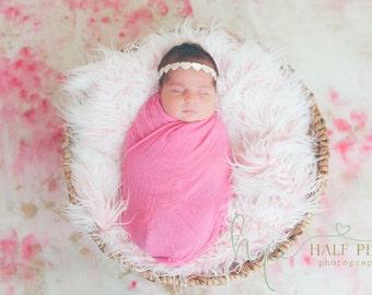 valentine's day headband, newborn headband, heart headband, white heart headband, ivory baby headband, halo headband, READY TO SHIP