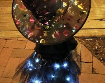 Child Black LED Light up Tutu Skirt fits Toddler 2 to Girls 8