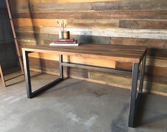 Reclaimed Wood Desk / Industrial Reclaimed Wood Desk / Modern Reclaimed Wood Desk