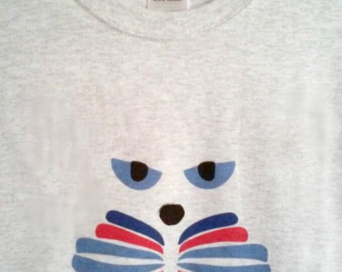 CAT-LOVER T-Shirt, Original Design, 5 Colors, 100% Preshrunk Cotton, Unisex Sizing, Crew Neck Style, Valentine Gift Idea