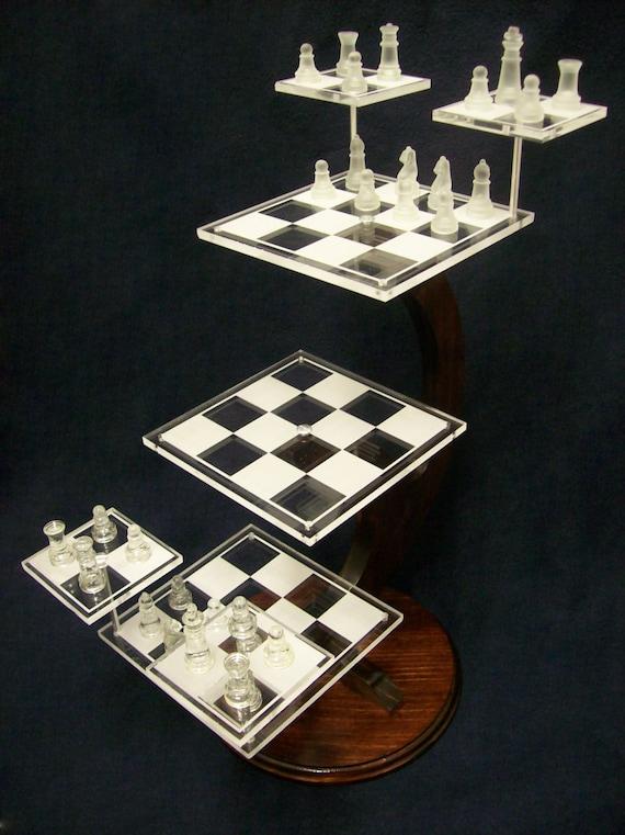 Tri Dimensional Chess Set Custom Star Trek Style 3d Chess