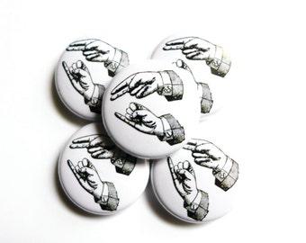 Sign Language Pin, Hi Pinback Button, ASL Pin Badge, Sign Language Gift, Hi Pin, ASL Gift, Deaf Button, Hearing Impaired Awareness