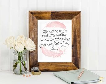 Instant Download- Feathers Bible Verse