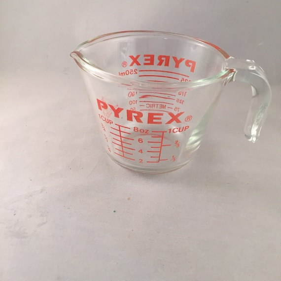 pyrex glass measuring cup 1 cup open handle. Black Bedroom Furniture Sets. Home Design Ideas