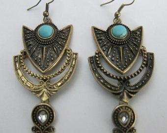 Bohemian Earrings, Boho Earrings, Bohemian Dangle Earrings, Long Earrings, Chandelier Earrings