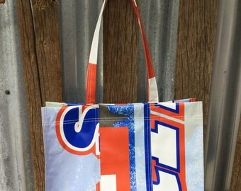 Blue Red Graphic Tote Bag, Shoulder Bag, Bold, Bright, Gift for Him, Gift for Her, Gift for Husband, Gift for Wife