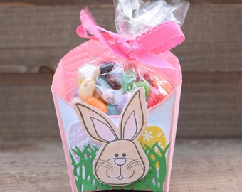 Easter Bunny Treat Box, Easter Party Favor, Bunny Party Favors, Easter Fry Box (Set of 12)