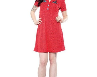 Women's Red SONGBIRD ROSIE Dress by SOURPUSS