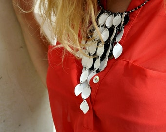 Faux leather necklace