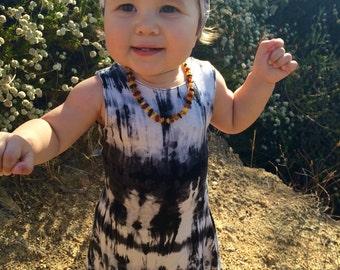 Boho Hippie Girl Dress, Tye Dye Dress, Girls Summer Dress, Boho Girl Clothes, Baby girls outfit