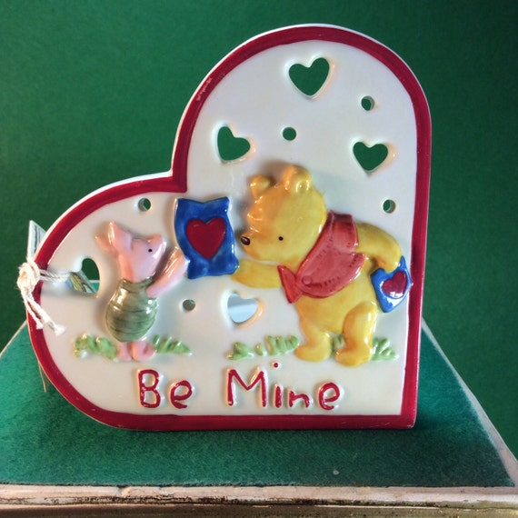 """Disney Winnie The Pooh and Piglet """"Be Mine"""" Tealight Candle Holder by Midwest of Cannon Falls"""