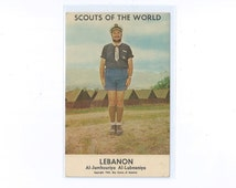 1964 Scouts of the World Series Individual Postcard by Country