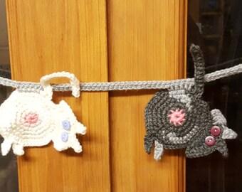 Crochet Cat Butt Bunting