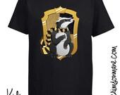 Hufflepuff Harry Potter Hogwarts House Crest T-shirt