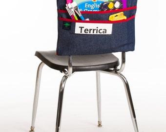 Name Tag Chair Pocket
