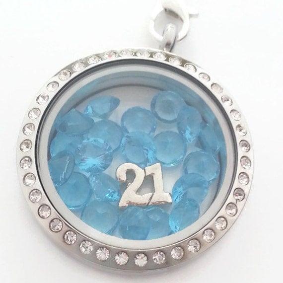 21 Birthday Necklace Unique 21st Birthday Gift Birthstone