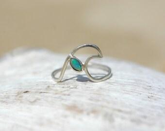 Catching Waves Opal Handmade Ring - Ocean Jewellery by Sophie Jade Jewellery