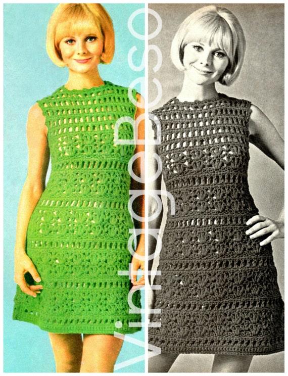 Dress Crochet Pattern Vintage 1960s Summer Wear is di ...