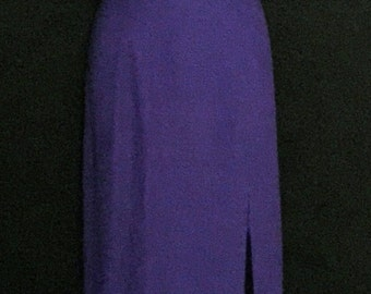 "Purple Beaded ""ALYCE"" Designer Gown                   VG128"