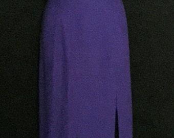"Purple Beaded ""ALYCE"" Designer Gown                   VG128"