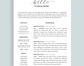 resume template for word and pages one page template free cover letter