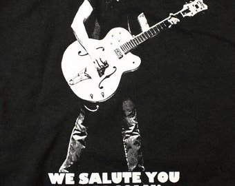 AC/DC Malcolm Young Tribute shirt - We Salute You Malcolm T-Shirt! ACDC Size M - Special sale price on size Medium! Limited time!