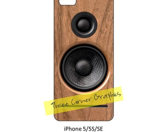 iPhone 5 printable speaker case design for audiophiles, DIY print at home iPhone accessories for 5, 5S, or SE