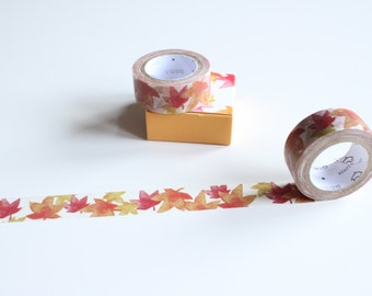 Autumn Leaves Washi Tape, Maple Leaf Washi Tape, Orange Washi Tape, Halloween Washi Tape (NT-170)