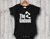 The Godson BLACK One Piece, Bodysuit, Romper, Christening Gift, Baptism Gift